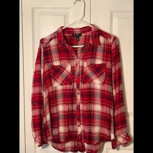 Jessica Simpson - flannel shirt